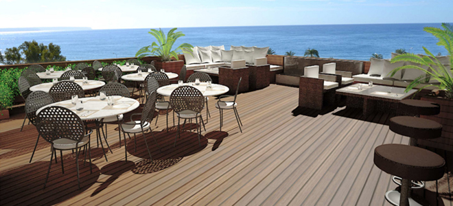 Rooftop terrace at Calatrava Hotel, Palma de Mallorca