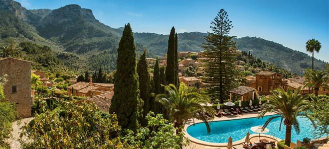 View from La Residencia Hotel, Deia, Mallorca