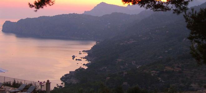 View from Sa Pedrissa Hotel, Deia, Mallorca