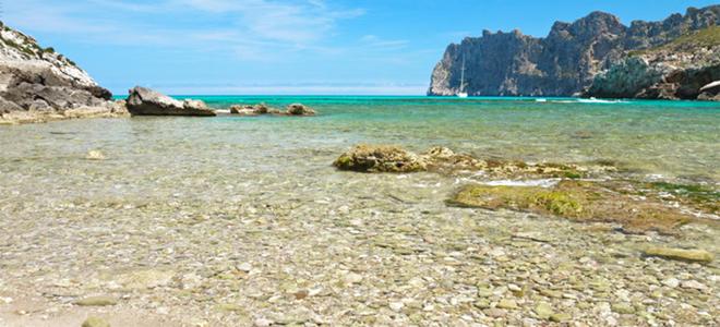 Beach at Cala Sant Vicenc