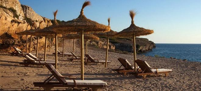 Beach at Cap Rocat Hotel, Mallorca