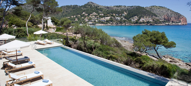 Can Simoneta Beach House pool, Mallorca