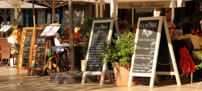 Soller Old Town square, Mallorca