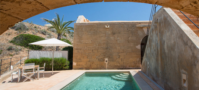 El Cabo Suite with pool, Cap Rocat Hotel, Mallorca
